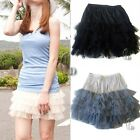Tulle Tutu Gauze&Satin Tier Layered Mini Skirt SZ S/6-8 dr001