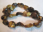 """Tppaz Gold Brown Natural Mother of Pearl Funky Chunky Nugget Beads 16"""" st  20mm"""