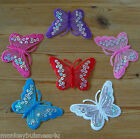 Iron on - Butterfly - Embroidered Patch/Transfer - Applique - Topper - Cards