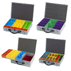 Compartment System Case Metal Storage Screw Organiser Tool Box Suit Fixings