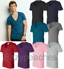 Bella Canvas Mens Unisex XS-XL 2XL Deep V Neck 100% Cotton T-Shirt b3105 Tee