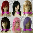 16 In. Free Shipping Medium Hair Silky Straight Cosplay Wigs Synthetic 51