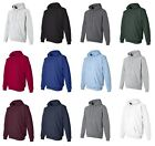 Hanes Mens NEW Size S-3XL Full Zip Hooded Sweatshirt Jumper Hoodie 50/50