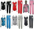 Womens Ladies Hooded Fleece Jogger Full Tracksuit Top Bottom  Size S M L XL