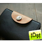[Antennashop] Elegant Leather Business Card Name Card Case Credit Buckle Korea