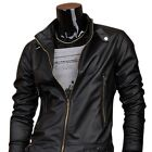Jeansian Mens Jacket Coat Shirt PU Faux Leather Slim Trend 2 Colors 6 Sizes 8914