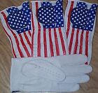 4 Cabretta Leather Golf Gloves USA Stars Stripes Small Medium M/L Large Extra XL