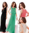 Women Bohenmia Pleated Wave Lace Strap Princess Chiffon Maxi long dress Hot Sell