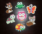 BIG EYED BABY TURTLE OWL BUTTERFLY CAT LADYBUG FROG EMBROIDERED PATCH APPLIQUE