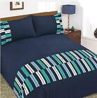NEW B & M POLY COTTON KING DUVET SET WITH 2 PILLOWCASES FOR A SUPERIOR SMOOTH
