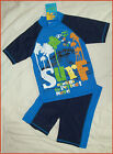2 Pc RASHI Sz 3 4 5 6 or 7 Swimwear BOYS BLUE TOGS Rash Top & Shorts Bathers NEW