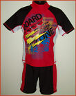2 Pc RASHI Sz 3 4 5 6 7 8 10 12 14  Swimwear BOYS RED TOGS Rash Top & Shorts NEW