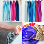 SHINY SILKY STRETCH SATIN FABRIC WEDDING DRAPERY DRESS COSTUME STUDIO 4 YARDS