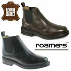 ROAMERS MENS TWIN GUSSET PADDED LEATHER CHELSEA DEALER BOOTS SHOES BROWN BLACK