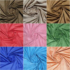 """SOFT WOVEN FAUX SUEDE FINE MICRO FIBER FOR CLOTHES, 0.4MM THICK """"56 COLORS"""" 60""""W"""