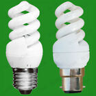 2x 7W (=35W) Low Energy CFL Power Saving Mini Spiral Light Bulbs BC OR ES Lamps