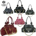 LYDC Designer Patent Croc/Snakeskin Ladies Diamante Crown bag with Chain