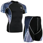 FIXGEAR C2S-48-SET-US Skin tight training compression shirts & shorts base layer