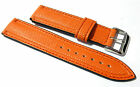 New in stock - Orange padded water resistant watch strap. 20mm or 22mm