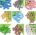 12Colours 50/100/500pcs Plated hollow loose spacer Beads Charms Findings 8MM