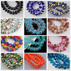 faceted glass beads - 72pcs 8mm Rondelle Faceted Crystal Glass Loose Spacer Beads Findings 234 Colors