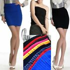 Celeb Style Bodycon Mini Skirt/Tube Top multiple colour SZ S-M/AU6-10 dr117