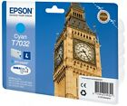 Genuine Epson T7032 / C13T70324010 Cyan Printer Ink Cartridge Big Ben