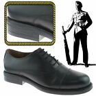 MENS OXFORD STYLE CADET PARADE CAPPED LEATHER ARMY UNIFORM BOOTS SHOES BLACK UK