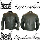 RK RETRO STYLE LEATHER MOTORCYCLE MOTORBIKE BIKER SPORTS TOURING JACKET