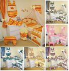 HEARTS 14 PCS BABY BEDDING SET / 2 SIZES for cot / cotbed