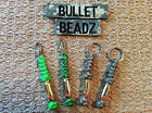 45 Auto & 9mm Bullet Beadz Keychains 550 Paracord made from Winchester Federal