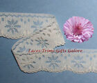 "7/14 Yds Ivory Lace Trim Vintage 1-1/2"" Scalloped H20DV Added Items Ship FREE"