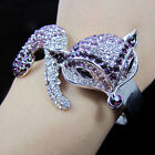 NEW Swarovski Crystal Fox Animal Bracelet Bangle Jewelry DISCO Bracelets