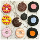 "Funky Assorted Kitsch Polymer Clay Pendants+Silver Plated Chain-18"" or 20"""