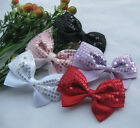 Big Grosgrain Ribbon Bows Flowers Appliques W-Sequins U pick E173 Handband Deco