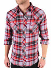 Dr Denim John Ross Mens checked shirt sizes slim fit  large and  xxl RRP£50