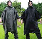 WATERPROOF HOODED PONCHO US ARMY STYLE RIPSTOP FESTIVALS - ALL WEATHER - FISHING