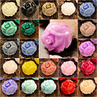 Cabochons 10X10/15X15MM Resin ROSE FLOWER flatback wholesale Colourful Cameo diy