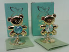 Teddy Bear Ornament Collectable Spectra Swarovski Crystal 24K Gold Plated Baby