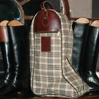 Baker Riding Tall Boot Bag - Brown Plaid