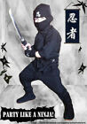 Halloween Children's Ninja Uniform/Costume BLACK!