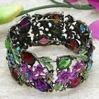 Selectable Fashion Jewelry Pave Multi-Colored Rhinestone Crystal Cuff Bracelet