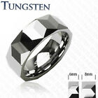 Tungsten Ring With Prism Design