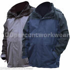 Baratec WINDERMERE Mens Rain Waterproof Jacket Coat Parka Hood Inner Fleece New