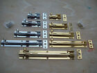 in 5 Sizes SOLID BRASS CRANKED NECKED SLIDING DOOR CUPBOARD BOLTS LATCH LOCK