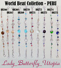 World Beat Collection Various Colors/Style Alpaca Silver Bracelets, Set2