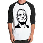 Bill Murray Baseball Jersey t-shirt 3/4 sleeve Raglan Tee