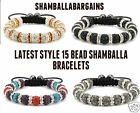 SHAMBALLA BRACELET PAVE CRYSTAL DISCO BALL FRIENDSHIP BEAD CLAY 15 BALLS UK POST