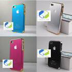 Brushed Aluminium Metal Look Case Cover for iPhone 4 4S Light Design only 15g