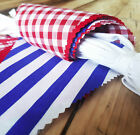 10-40FT (3-12m) JILPI FABRIC PATTERN PLAIN FLORAL STRIPE PARTY BUNTING, HANDMADE